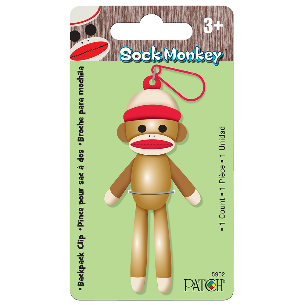 Sock monkey png. Backpack clip playmonster