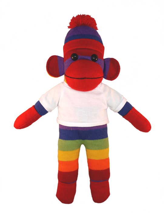 Sock monkey png. Bear with me rainbow