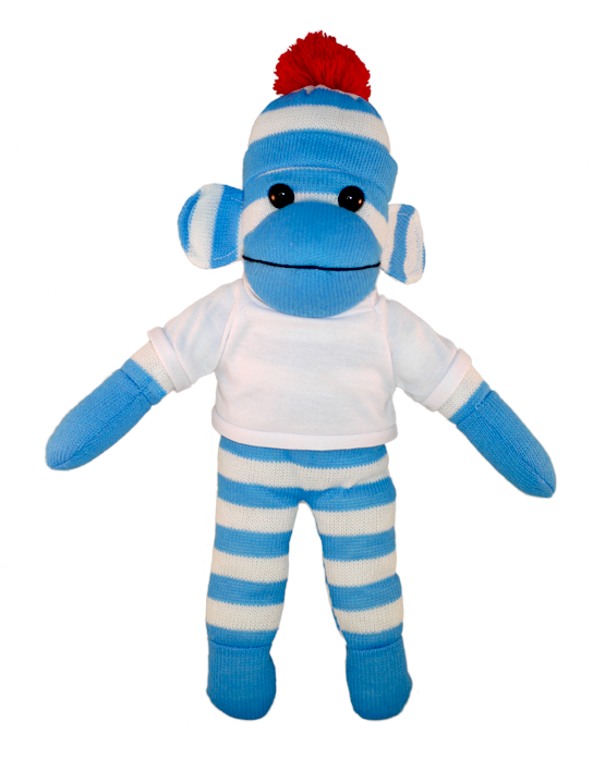Sock monkey png. Bear with me blue