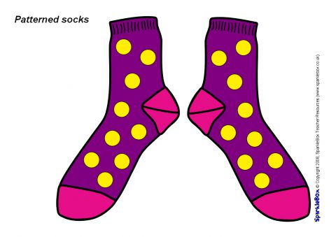 Sb sparklebox . Socks clipart patterned sock picture free
