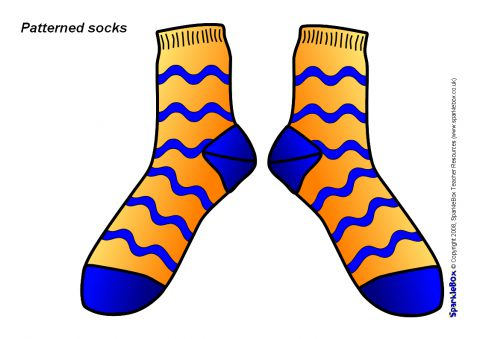 Sb sparklebox preview. Socks clipart patterned sock svg library library