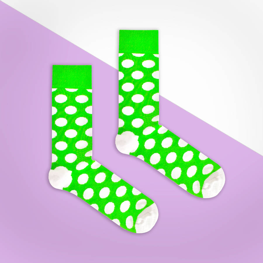 Green and white by. Socks clipart polka dot sock royalty free library