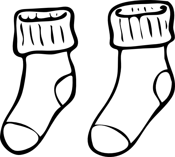 Socks clipart printable. Best photos of sock