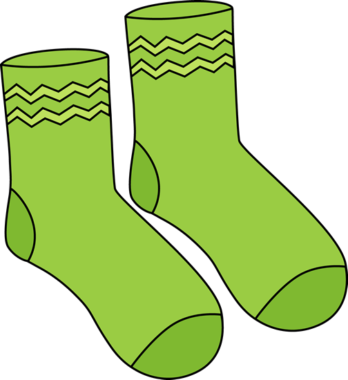 Pair of green printable. Socks clipart svg transparent