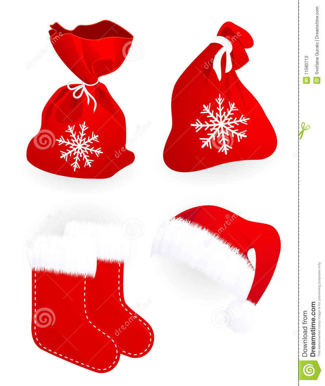 Socks clipart santa claus. Gift bags and hat clip art royalty free library