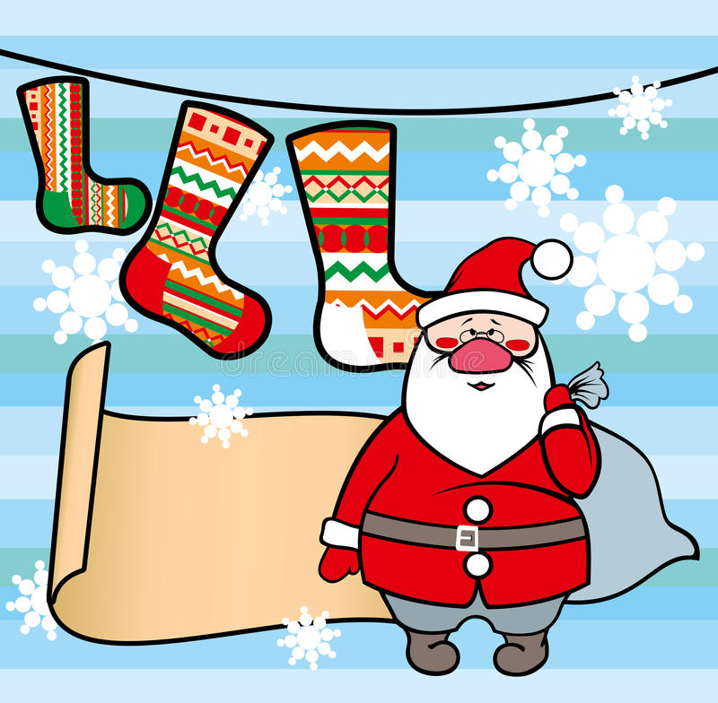 Template with and stock. Socks clipart santa claus freeuse library