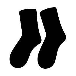 Socks clipart silhouette. Clothing silhouettes page