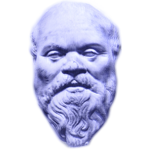 Socrates drawing pop art. File blue version png