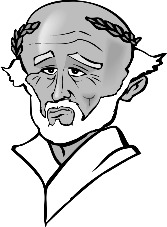 Socrates drawing black and white. Clipart medium image png