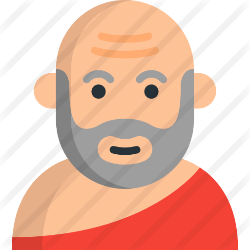 Socrates drawing upside down. Free people icons