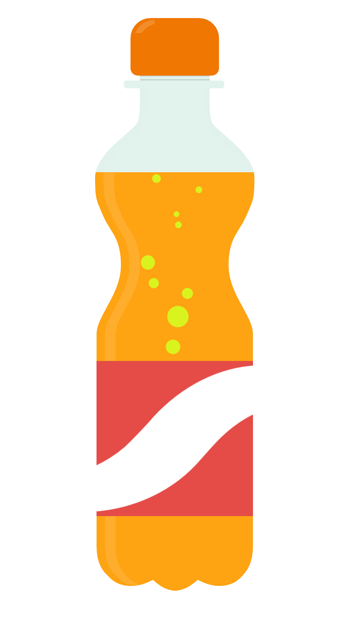 Vector alchemy bottle. Soda free to use