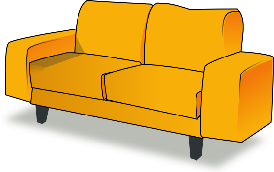couch clipart back couch