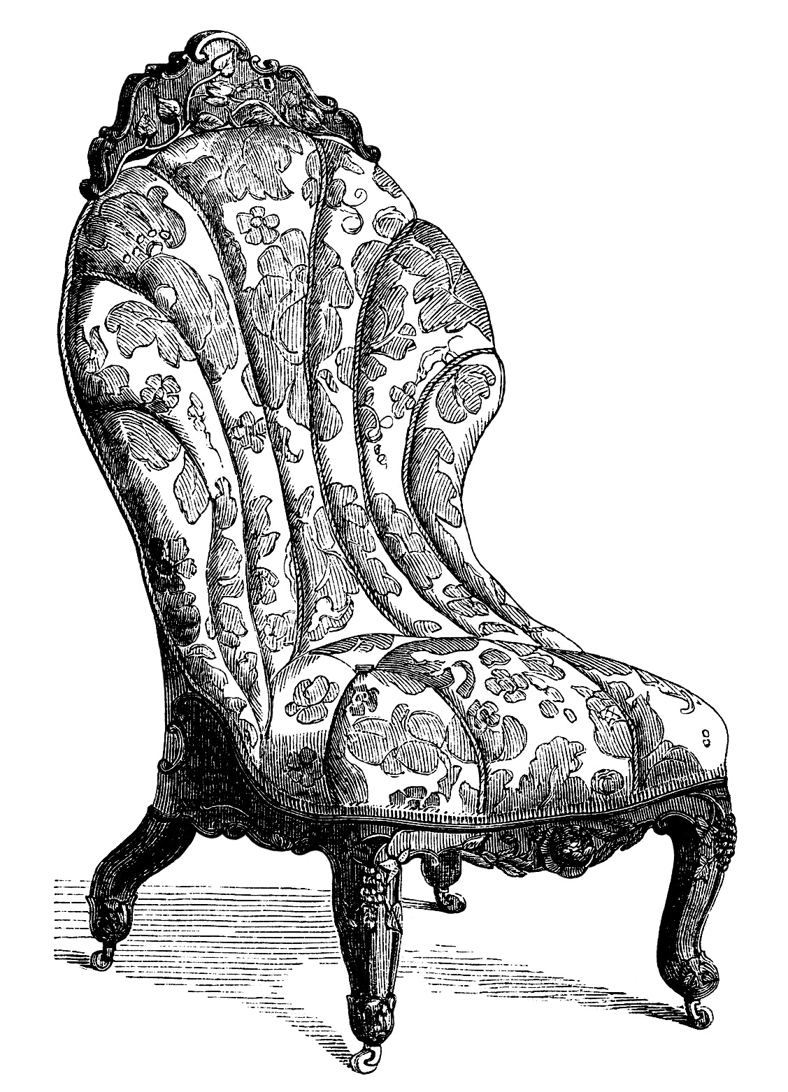 Sofa clipart furniture shop. Victorian and chair free