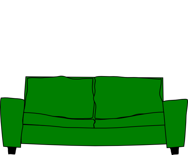 sofa clipart green couch