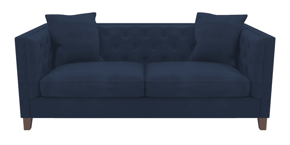 sofa transparent blue