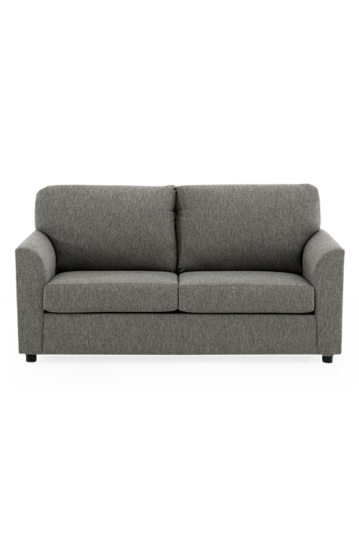 Transparent couch grey. Fabric sofa bed economax