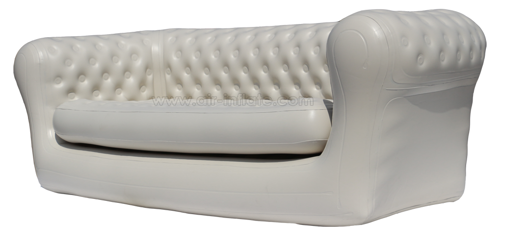 Transparent couch inflatable. Chesterfield sofa event seater