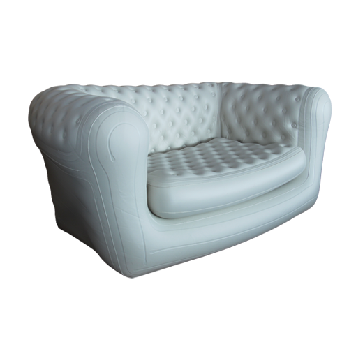 Transparent couch inflatable. Event sofa for your