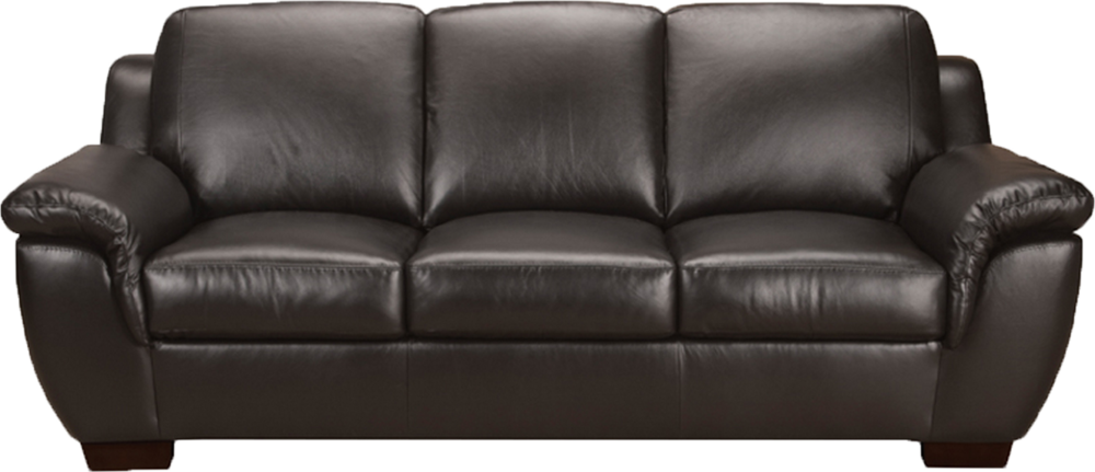 Transparent couch black. Leather sofa psd official