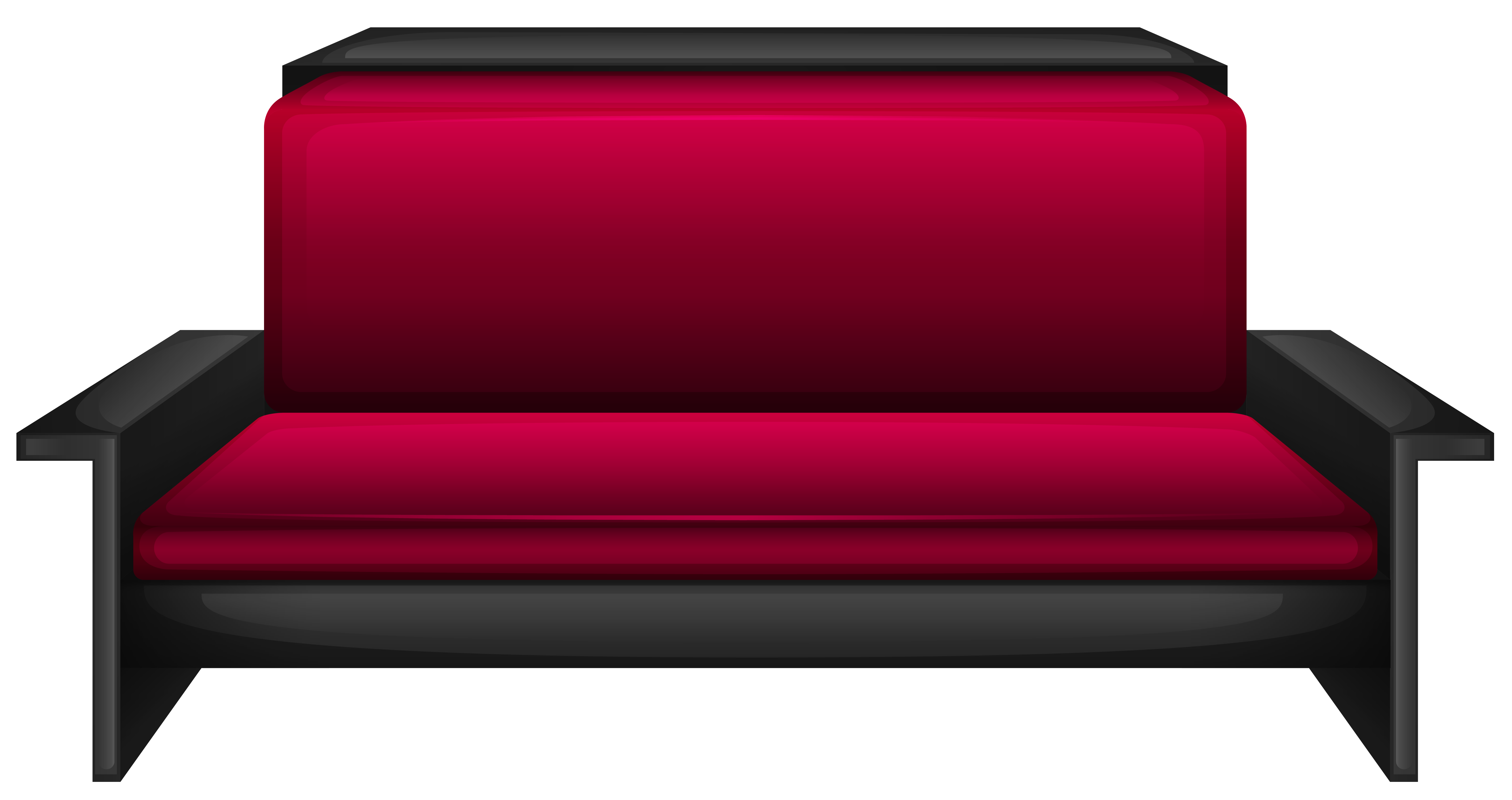 Sofa transparent red. Modern png image gallery