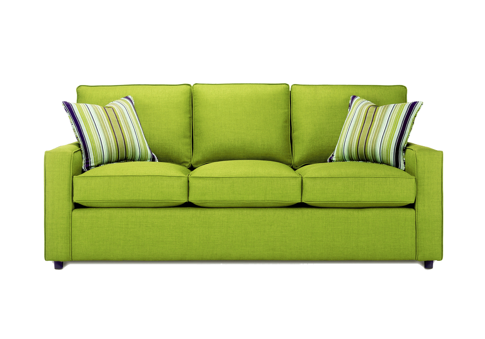 Transparent couch green