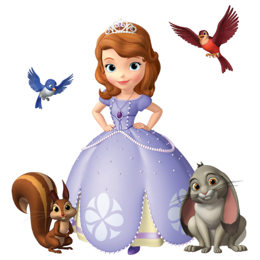Sofia the first clover png. Image and her animal