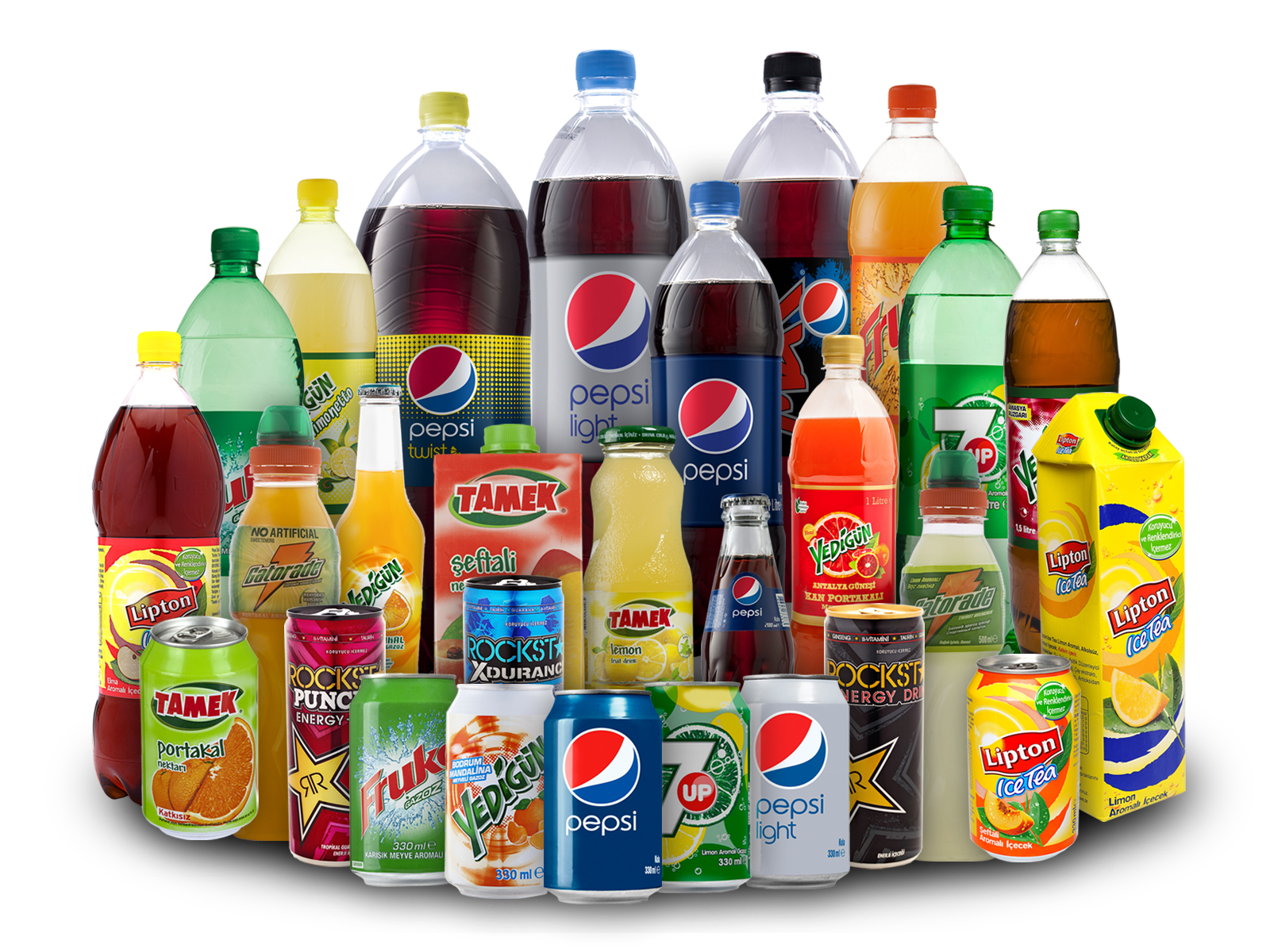 Soft drinks png. Assorted