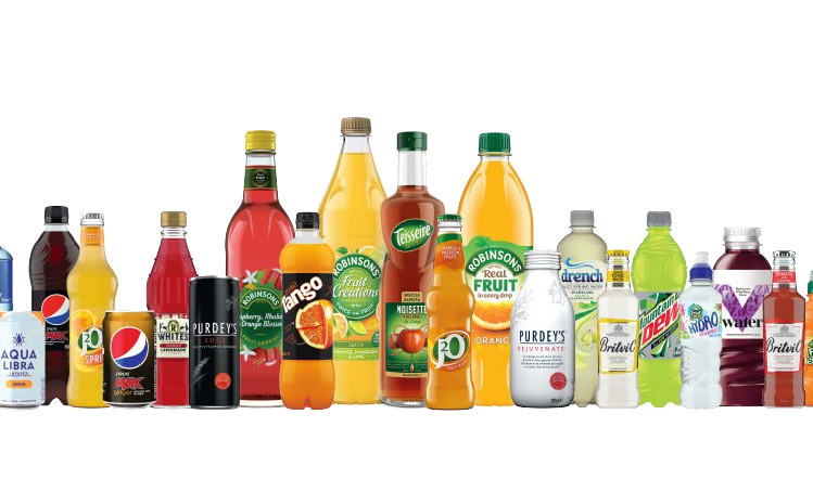 Soft drinks png. Britvic carbonated sales fall