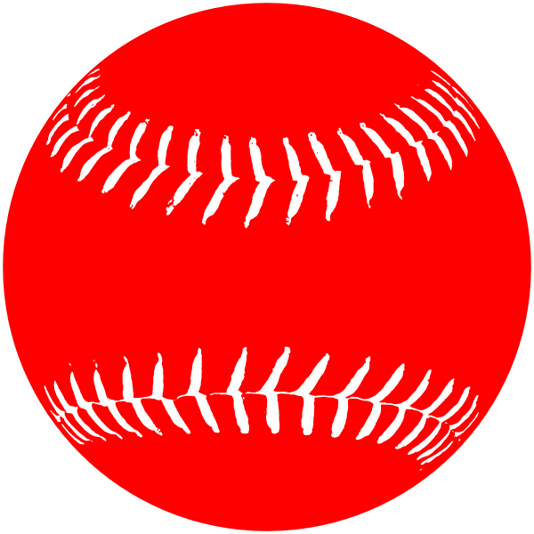Red White Softball Clip Art at Clker