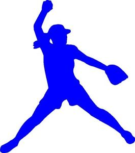 Softball clipart decal. Pitcher silhouette at getdrawings