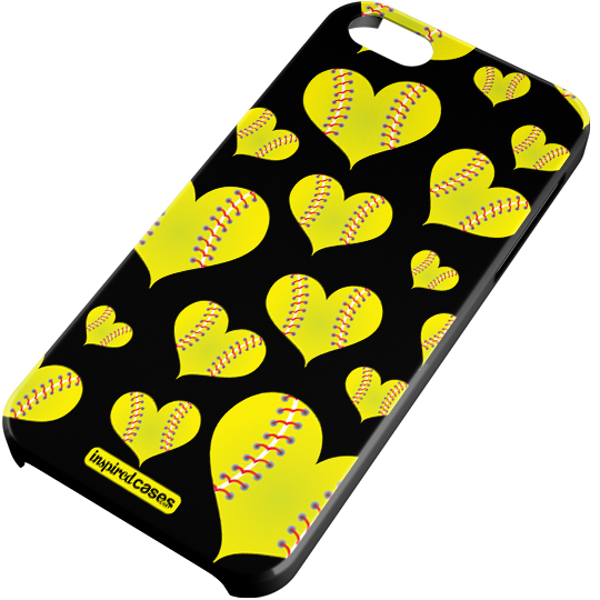 Softball heart png. Pattern case patterns and
