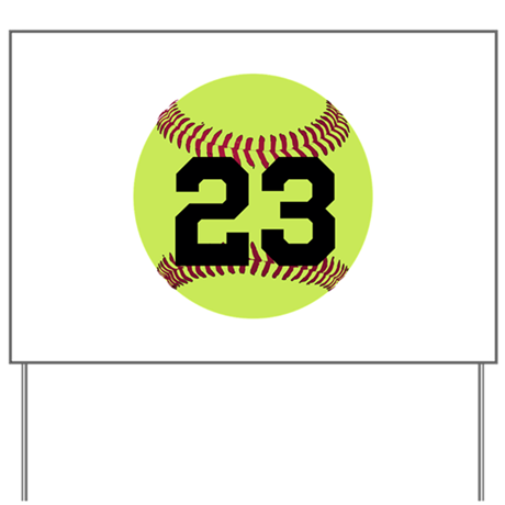 Softball numbers png. Number personalized yard sign