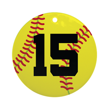 Softball numbers png. Sports player number ornament