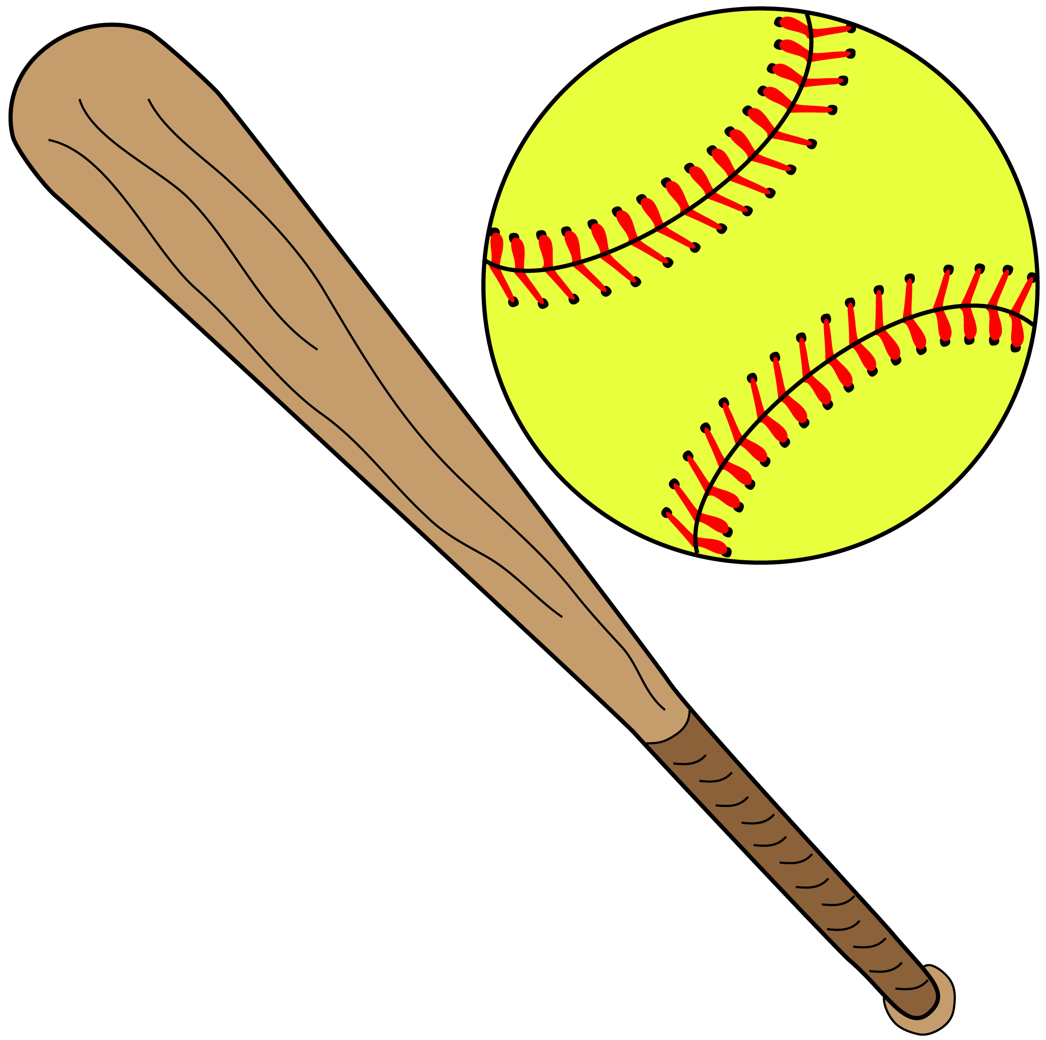 Softball png images. With bat free icons