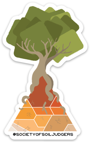 Soil clipart outline. Artsy texture triangle sticker