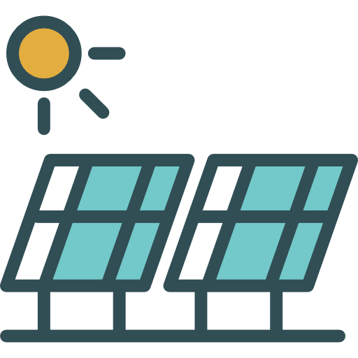 Environment vector solar energy. Power technology ecology and