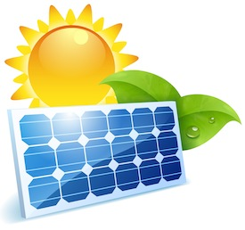 Solar panel clipart solar power. A bright future the