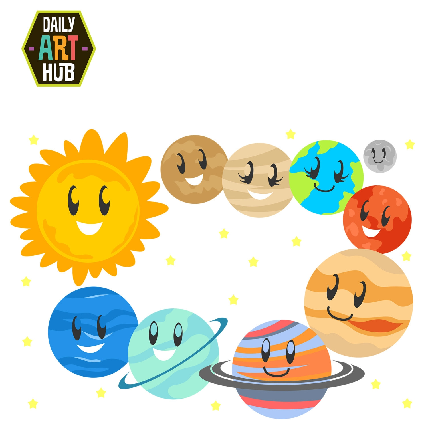 Solar system clipart. Awesome collection digital a