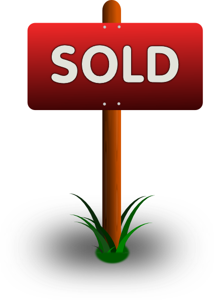 Buy vector home. Sold sign clipart