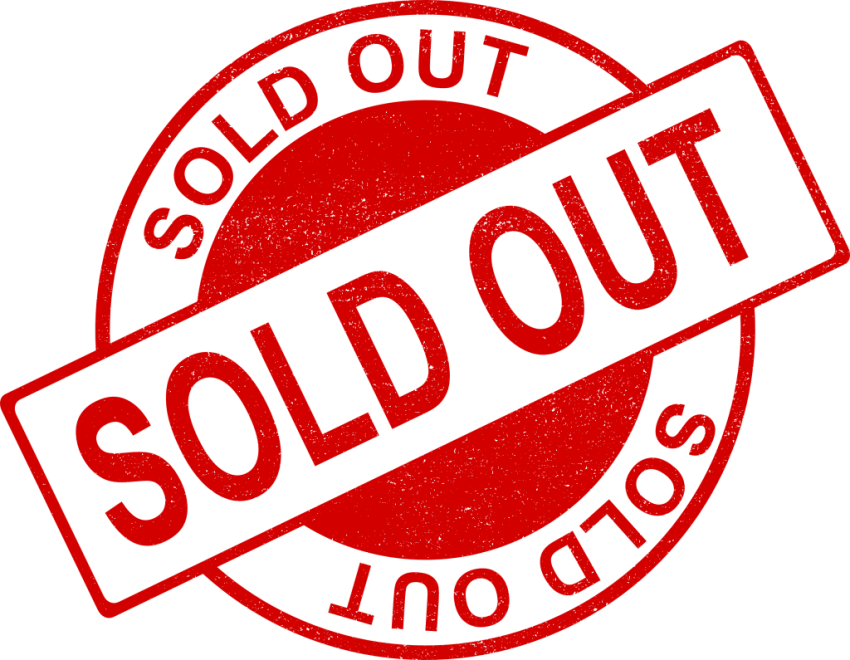 Sold out image png. Stamp free images toppng