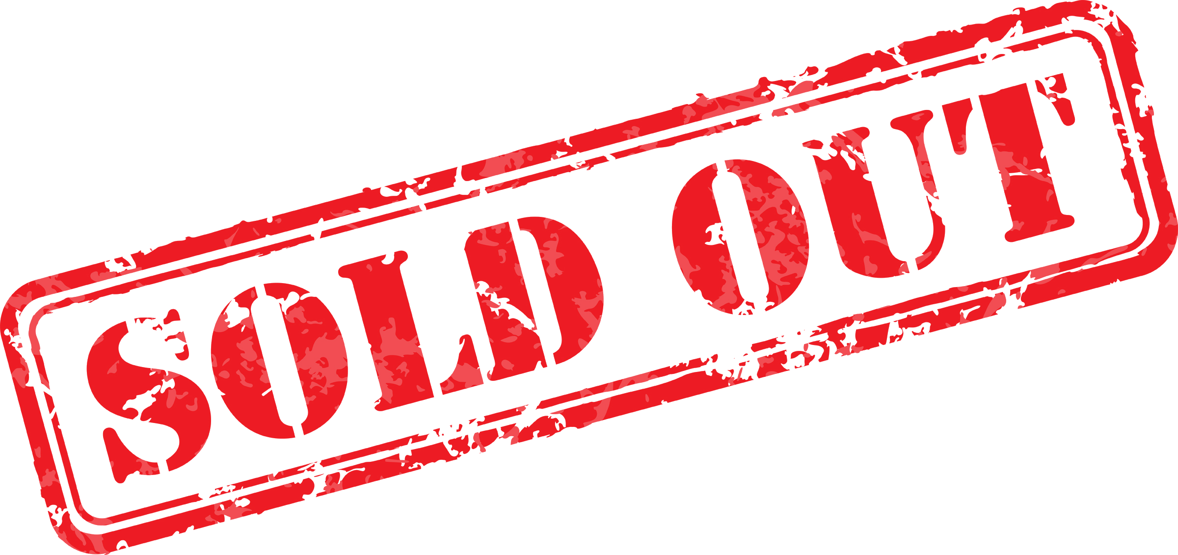 Ticket the speech stuttering. Sold out transparent png image stock