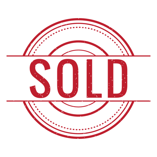 Sold out transparent png. Red rounded svg vector