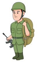 Soldier clipart. Free military clip art