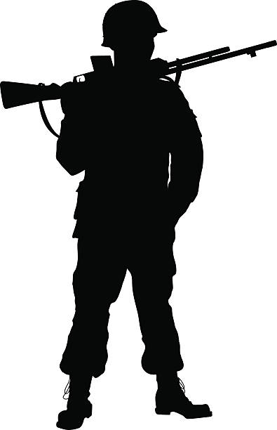 Soldier clipart brave soldier. Marching silhouette at getdrawings