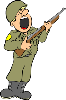 Soldier clipart comic. Commander army military general