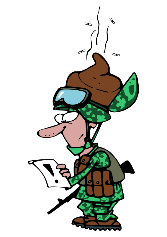 Soldier clipart comic. Funny