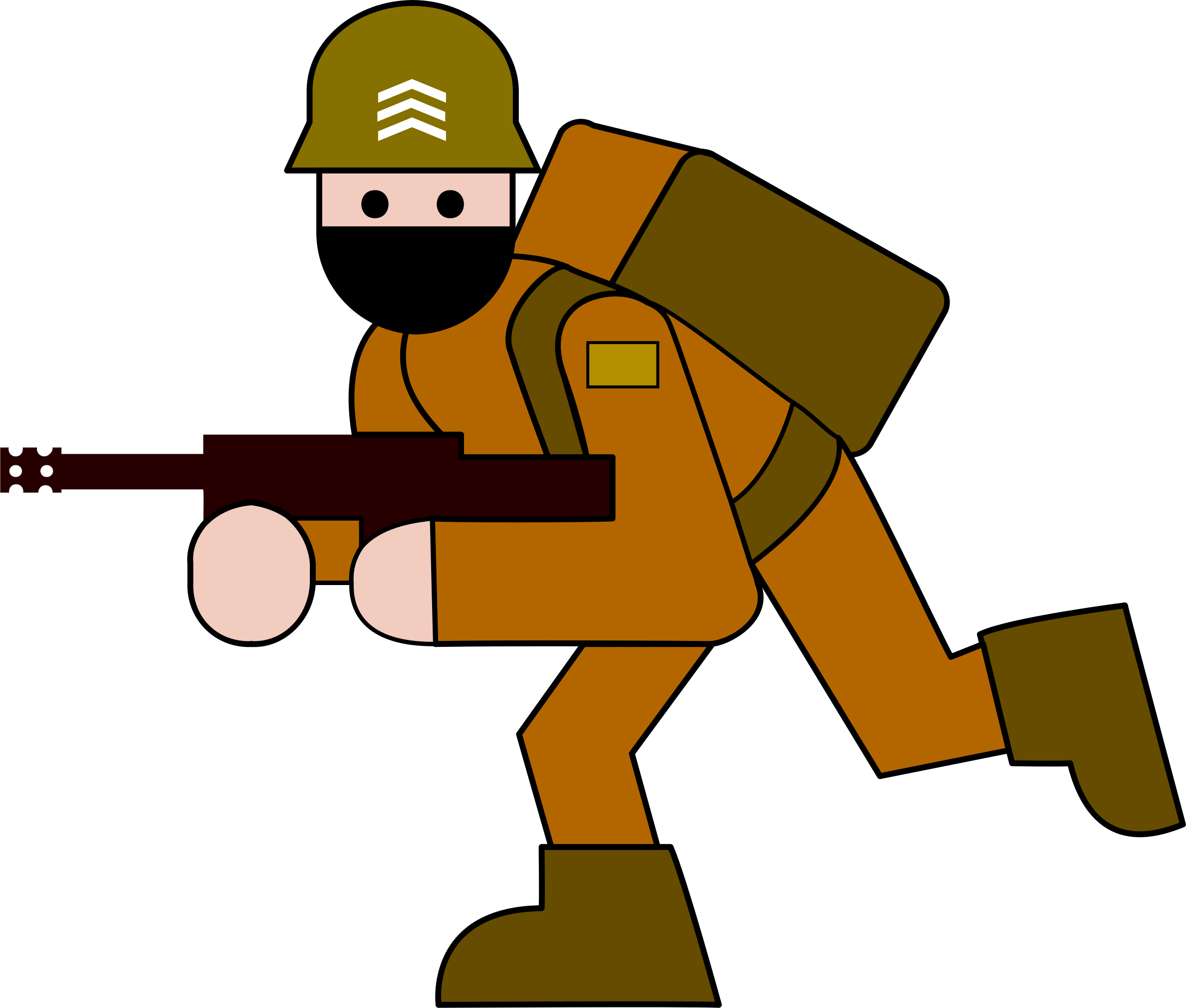 Soldier clipart comic. Military big image png