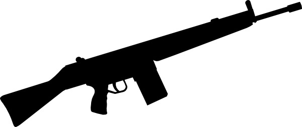Soldier clipart gun. Silhouette pencil and in