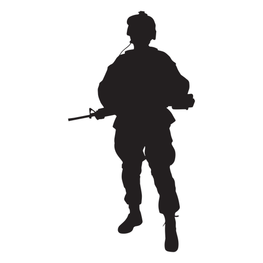 Soldier svg. Special forces silhouette transparent