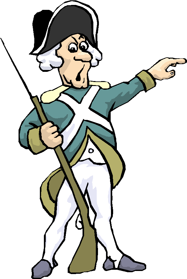 Transparent soldier american revolution. Revolutionary war clipart